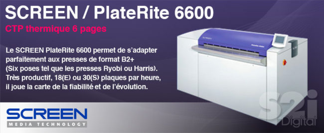 Screen CTP thermique 6 pages platerite 6600