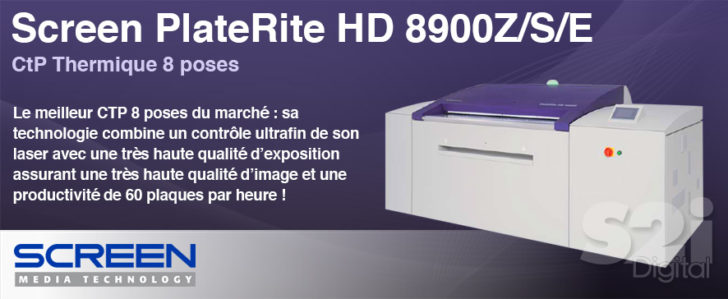 Screen PlateRite HD 8900Z/S/E CtP Thermique 8 poses