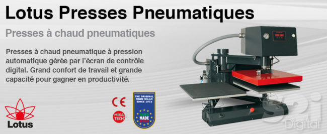 Lotus Presses Pneumatique